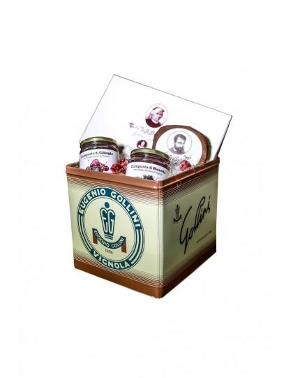 confezione regalo Gollini torta Muratori , Barozzina, composta di ciliegie e composta di ciliegie morette di Vignola